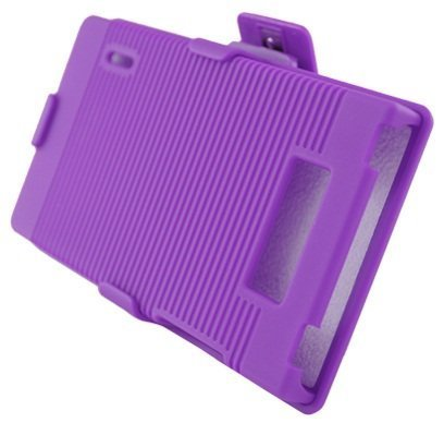 Aimo Wireless LGUS730PCBEC014 Shell Holster Combo Protective Case for LG Splendor/Venice S730 with Kickstand Belt Clip and Holster - Retail Packaging - Purple