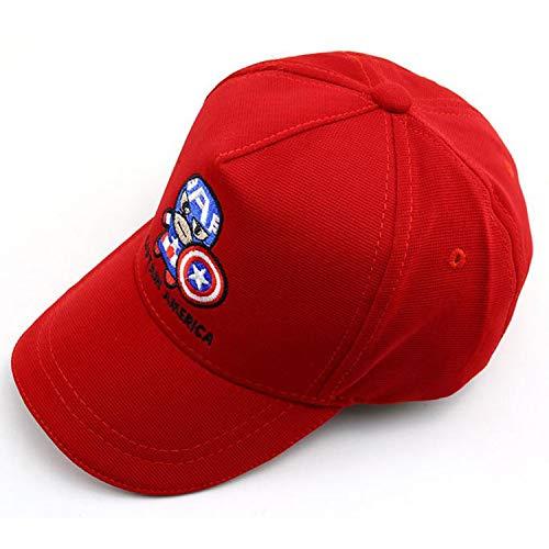 Curving Brim Child Baseball Cap Hip Hop Captain America Kids Sun Hat Spring Boys Girls Caps Snapback Hats ()