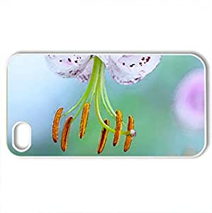 Beauty - Case Cover for iPhone 4 and 4s (Flowers Series, Watercolor style, White)