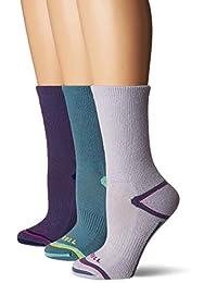 Merrell womens 3 Pack Cushioned Hiker Crew Socks Casual Sock