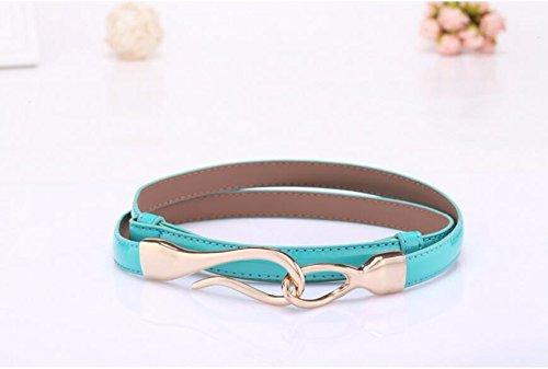 SAIBANGZI Ms Women All Seasons Hook Belt Fine Decorative Leather Women'S Belts Girlfriend Present O 100Cm by SAIBANGZI (Image #2)