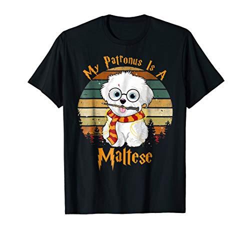 My Patronus is a Maltese Dog Christmas Pajama T Shirt - Womens Maltese