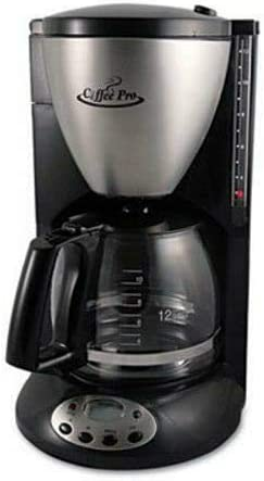 Euro Style Coffee Maker Black Stainless Steel