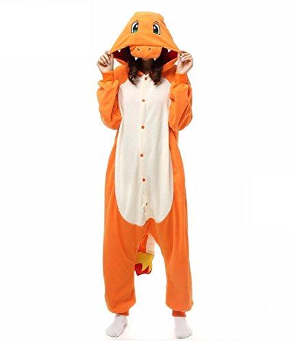 WRH Pigiama Kigurumi Cosplay / Drago Leotard / Onesie Peluche Animal Animal Sleepwear Patchwork Arancione Polso Pigiama Kigurumi Unisex Halloween