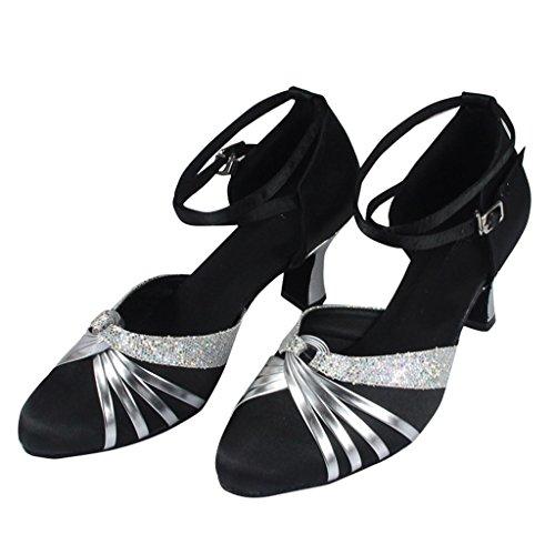 Monie Women's Elegant Knot Ballroom Salsa Latin Tango Dance Shoes 2.4