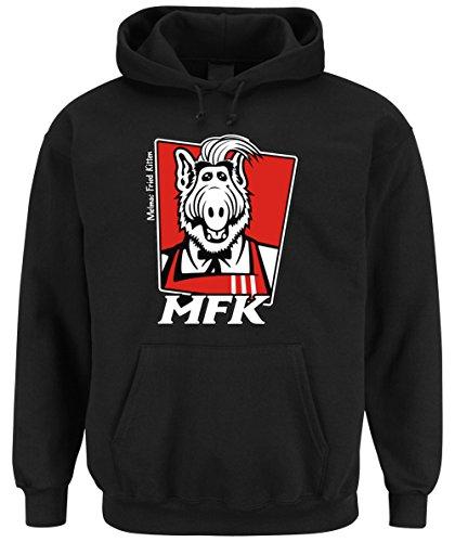 Melmac Fried Kitten Hooded-Sweater Black Certified Freak