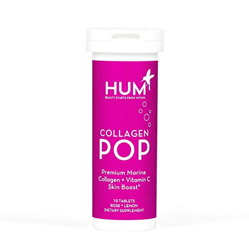 HUM Collagen Pop - Marine Collagen Drink with Vitamin C, Dissolvable Collagen Tablets for Skin Beauty Boost (10 Fizzy Tablets)