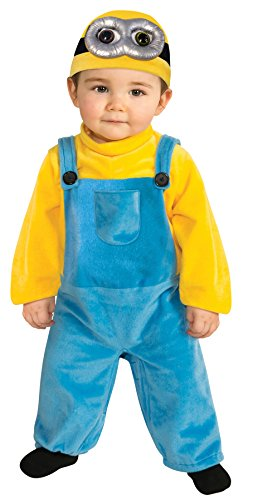 UHC Boy's Despicable Me Minion Bob Fancy Dress Toddler Halloween Costume, Toddler (3-4T)