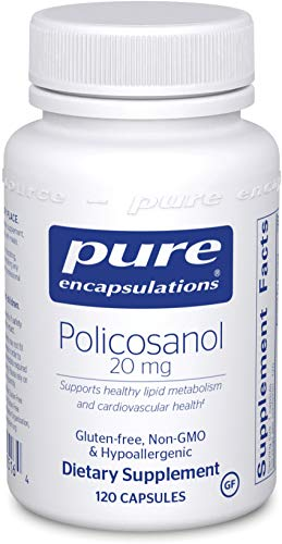 Cheap Pure Encapsulations – Policosanol 20 mg – Hypoallergenic Supplement Supports Healthy Lipid Metabolism and Cardiovascular Function* – 120 Capsules