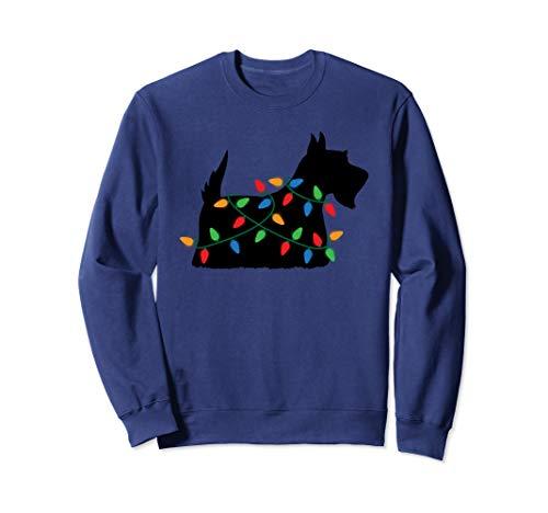 Christmas Tree Lights Scottish Terrier Dog Sweatshirt
