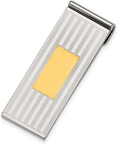 Stainless Steel 14k Gold-Plated Engravable Money Clip