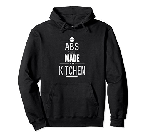 Unisex Abs are Made in the Kitchen Funny Gym and Workout Hoodie 2XL Black