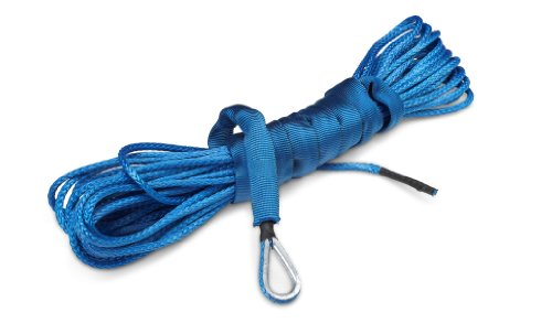 50 ft AmSteel-Blue Synthetic ATV/UTV Winch Cable/Rope - BLUE Amsteel Blue Winch Line