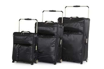 IT Luggage World's Lightest It-0-1 2nd Gen 3 Piece Set, Black, One Size