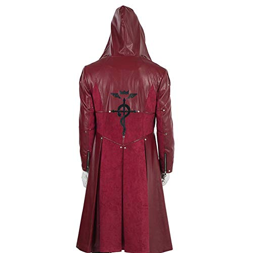 cossun Fullmetal Alchemist Edward Elric Cosplay Costume Halloween only caot Windbreaker cloak (S) -