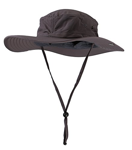 Afala Outdoor Hat for Sun Protection UPF50+ Waterproof for Fishing Hiking 4 Colors (deep gray)