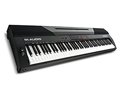 M-Audio Accent | Digital Piano with 88 Hammer-Actions Keys, Built-In Speakers, Sustain Pedal & Lesson Mode