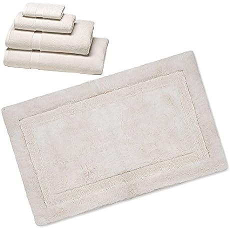 Wamsutta 805 Turkish Cotton Bath Towel Set With Bath Rug Ivory 30 X48