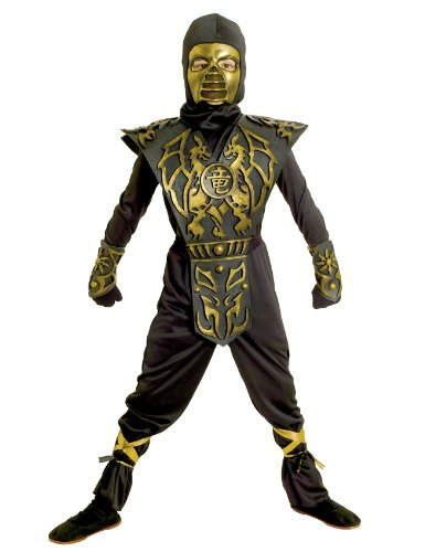 Group Costumes For Three (Paper Magic Group Blazing Dragon Ninja-3 Boy's Costume, Large 10-12)