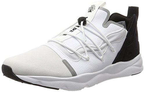 Reebok Furylite X, Scarpe da Ginnastica Basse Uomo Bianco (White/Black)