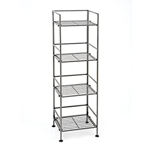 tall storage shelves seville classics 4 tier iron square tower 27066