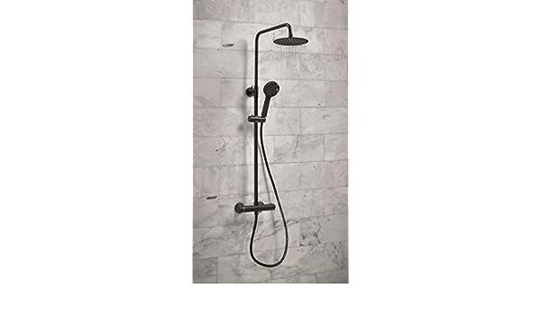 HOUSLER® (Mezclador termostático negro mate con kit): Amazon.es ...