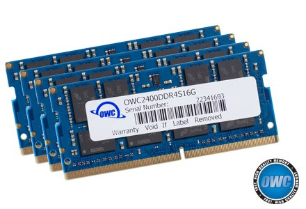 OWC 64GB (4 x 16GB) 2400MHZ DDR4 SO-DIMM PC4-19200 Memory Upgrade for 2017 iMac 27 inch with Retina 5K Display, (OWC2400DDR4S64S) (27 Inch Imac With Retina 5k Display Price)