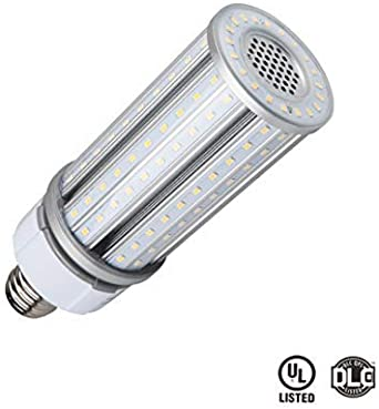 Thinklux 54W 7300 Lumen LED Corn LED Retrofit Bulb Wall Pack Post Top DLC4.2 Qualified Street Light Replacement UL Listed 5000K Rebate Ready 200W Replacement for HID//HPS//Metal Halide or CFL
