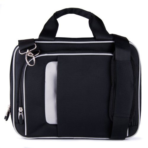 VanGoddy Pin Laptop Messenger Bag for VAIO Z Canvas 12.3 inch Laptop/Tablet, Jet Black ()