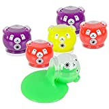 Kidsco Bear Slime Transparent Squishy Putty – Assorted Colorful Non-Toxic Toys for Kids (Pack of 6) – Great Gift Ideas