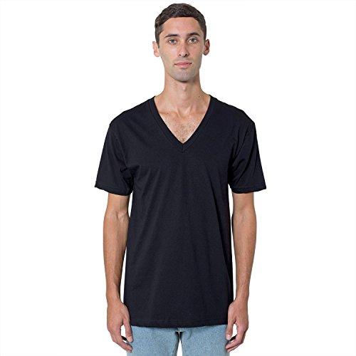 American Apparel Fine Jersey Short Sleeve Vneck 2456 - Navy - S