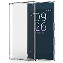 Sony Xperia XZ Case, MoKo Shock Absorbing TPU Bumper Ultra Slim Clear Protective Case with Anti-Scratch Hard Back Cover for Sony Xperia XZ 5.2 Inch (2016) - Crystal Clear