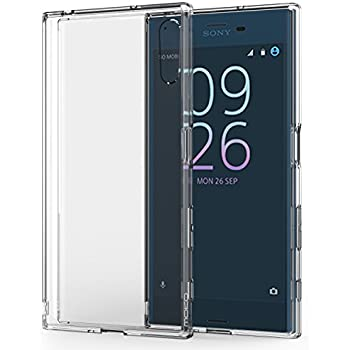 Sony Xperia XZs / XZ Case, MoKo Shock Absorbing TPU Bumper Ultra Slim Clear Protective Case with Anti-Scratch Hard Back Cover for Sony Xperia XZs 2017 / XZ (2016) - Crystal Clear