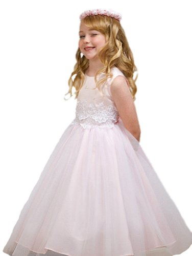 KID Collection Girls Cinderella Tulle Flower Girl Easter Dress