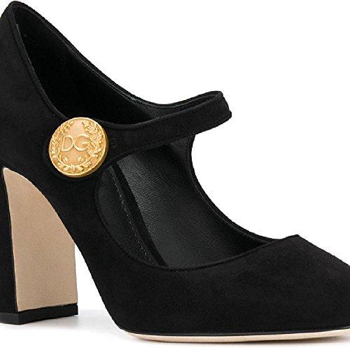 Dolce & Gabbana Women's Black Suede Leather Pumps - Heels Shoes - Size: 38 EU Dolce & Gabbana High Heel Heels