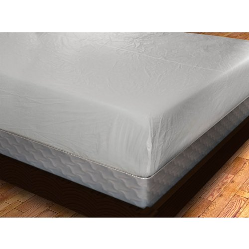 Shop Bedding Royal Mystique Fitted Vinyl Mattress Cover (Queen) - Heavy Duty Vinyl Waterproof Mattress Cover