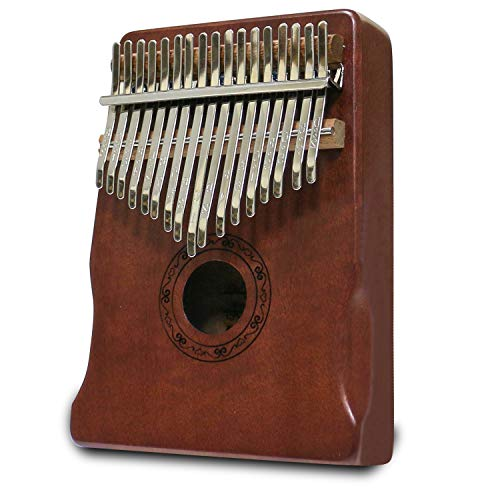 Kalimba Thumb Piano 17 Keys Kalimba Set Thumb Piano Clear Sound Kalimba Thumb Piano Solid Wood Kalimba Accessories with Learning Instruction(Box style, Coffee)