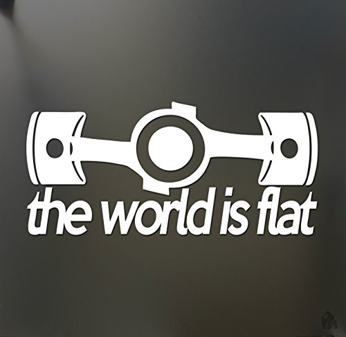 Price comparison product image The world is flat sticker HUGE V1 Subaru WRX STI Scion Funny hooligan decal,  Die cut vinyl decal for windows,  cars,  trucks,  tool boxes,  laptops,  MacBook - virtually any hard,  smooth surface