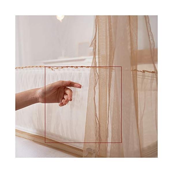 Zipper Seduto Letto zanzariera, anti-caduta casa Yurt Quattro montante d'angolo 1,5 m 1,8 m Lettino zanzariera… 5 spesavip