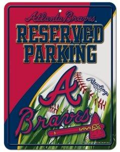 Street Braves Sign Atlanta - MLB Atlanta Braves Parking Sign