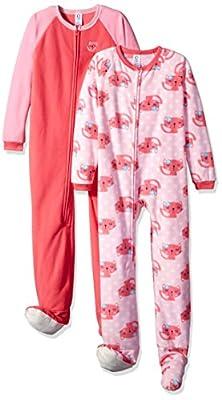 Gerber Girls' 2 Pack Blanket Sleepers