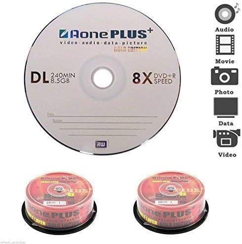 Lote Aone 8x DVD+R DL Doble Capa 8.5GB - 600 Discos - Buy The Caja: Amazon.es: Oficina y papelería
