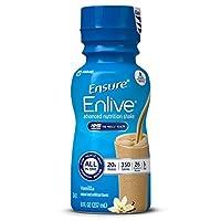 Agite el batido Enlive Advanced Nutrition con 20 gramos de proteína de alta calidad, batidos de reemplazo de comidas, vainilla, 8 fl oz, 16 unidades