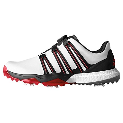 adidas Powerband Boost BOA Men's Golf Shoes White/Core Black/Scarlet 10 M
