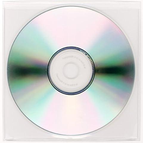 StoreSMART - Peel & Stick CD / DVD Pocket - Clear Plastic - Tight Fit - 4 5/8