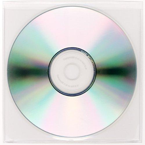 - StoreSMART - Peel & Stick CD/DVD Pocket - Clear Plastic - Loose Fit - 5 1/8