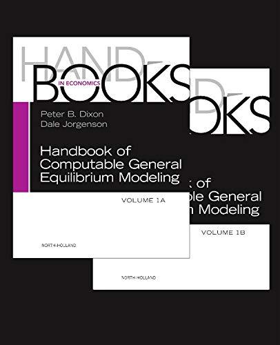 Applied General Equilibrium Models - Handbook of Computable General Equilibrium Modeling, Volume 1A-1B (Handbooks in Economics)