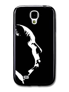 AMAF ? Accessories Alfred Hitchcock profile print Black and White case for Samsung Galaxy S4 by mcsharks