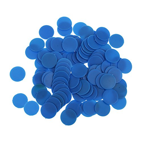 Fityle 約100枚 不透明 ボードゲーム カウンター 数学教育 おもちゃ 全4色 - ブルー