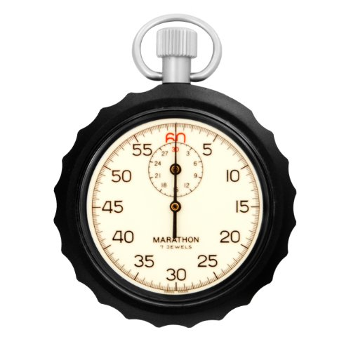 MARATHON ST194009 Stopwatch Glow in the Dark Dial Single Action Mechanical Windup Analog Stopwatch by Marathon